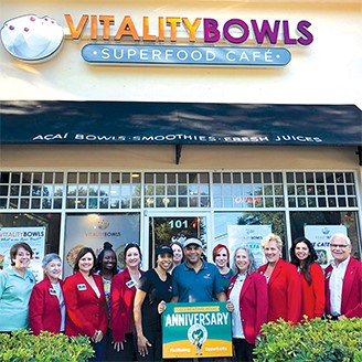 West Orange Chamber of Commerce Vitality Bowls One Year Anniversary